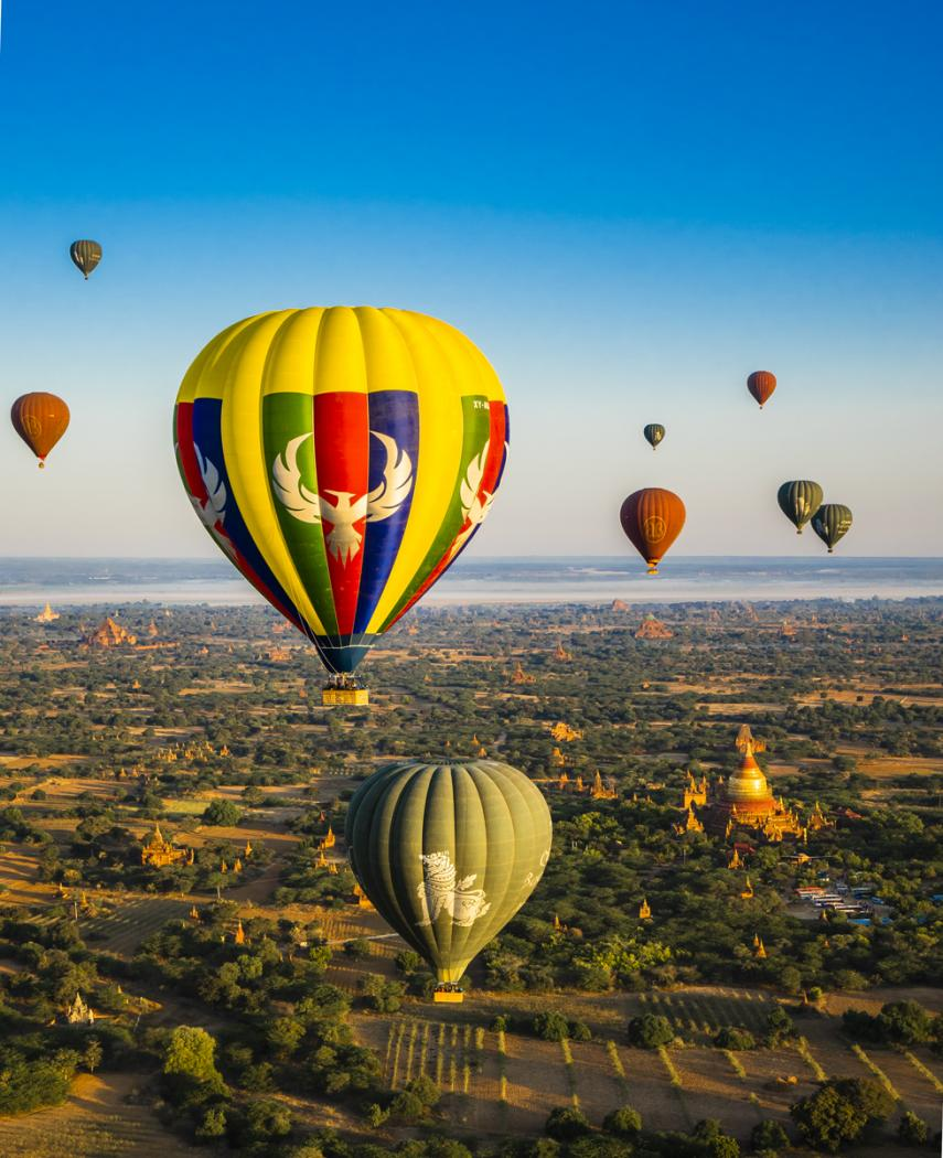 Hot air balloon,Myanmar
